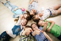 Group of happy kids Stock Photo