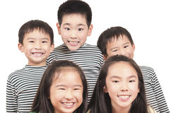 Group of happy kids Stock Images