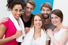 Group of happy multiethnic friends Stock Photos