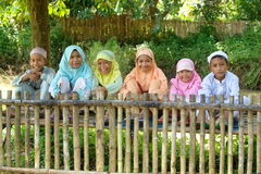 Group of Happy Muslim Kids stock photos