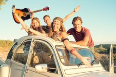 Happy group on vacations Stock Photo