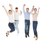 Group of a happy people Stock Image