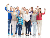 Group of happy people showing fists Stock Photography