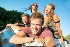 Friends on vacations Royalty Free Stock Photo