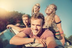Friends on vacations Royalty Free Stock Images