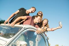 Friends on vacations Royalty Free Stock Image
