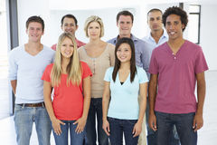 Group Of Happy And Positive Business People In Casual Dress royalty free stock photography