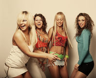 Group of happy pretty  girls Royalty Free Stock Image