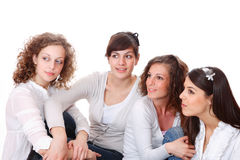 Group of happy pretty laughing girls Stock Image