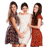 Group of happy pretty laughing girls Royalty Free Stock Images
