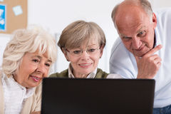 Group of happy retired people Royalty Free Stock Photography