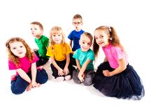 Group of happy kids royalty free stock photography