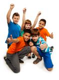 Five exited kids Stock Images