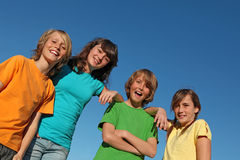 Group of happy smiling kids or tweens Royalty Free Stock Photography
