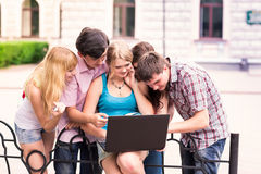 Group of happy smiling Teenage Students Royalty Free Stock Image
