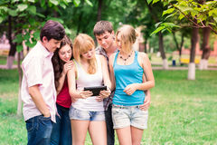 Group of happy smiling Teenage Students Royalty Free Stock Photography