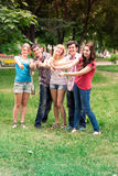 Group of happy smiling Teenage Students Stock Image