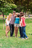 Group of happy smiling Teenage Students Royalty Free Stock Images