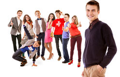 Group of happy smiling young people Stock Image