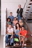 group happy students Στοκ Εικόνα