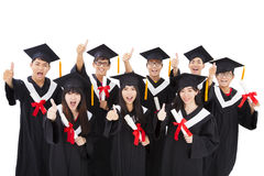 Group Of happy  Students Celebrating Graduation Stock Photography