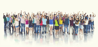 Group of Happy Students Celebration Cheerful Concept Stock Photos