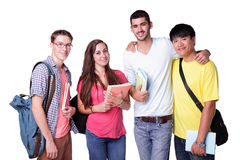 Group of happy students Stock Photo