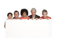 Group of happy students and lecturer Royalty Free Stock Photos