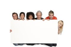 Group of happy students and lecturer stock images