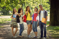 Group of happy students Royalty Free Stock Photos