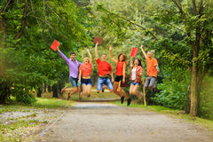 Group of happy students in a Park Royalty Free Stock Image
