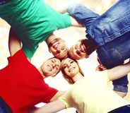 Group of smiling students staying together. School , education, college, university: concept. royalty free stock images