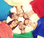 Group of happy students staying together. Education, university: Royalty Free Stock Image