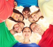 Group of smiling students staying together. School , education, college, university: concept. royalty free stock photography