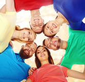 Group of happy students staying together. Education, university:. Group of smiling students staying together. School , education, college, university: concept Royalty Free Stock Photography