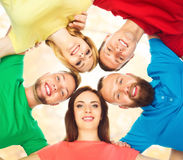 Group of happy students staying together. Education, university:. Group of smiling students staying together. School , education, college, university: concept Stock Photos