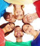 Group of happy students staying together. Stock Photos