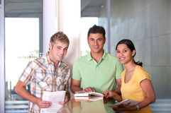 Group of happy students studying. Portrait of group of happy students studying Stock Image