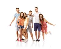 Group of happy students Stock Photos