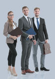 Group of happy and successful business people looking confident Royalty Free Stock Images