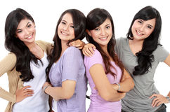 Group of happy teenagers Stock Photos
