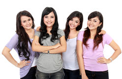 Group of happy teenagers Royalty Free Stock Image