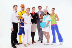 Group of happy workers Royalty Free Stock Image