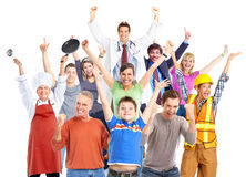 Group of happy workers people. Stock Images