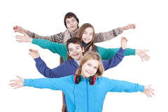 Group of happy young Stock Photos