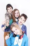 Group of happy young Stock Photography