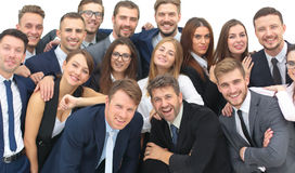 Group of happy young business people in a meeting at office Stock Photos