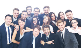 Group of happy young business people in a meeting at office Royalty Free Stock Photo