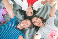 Group of happy young friends having fun stock image