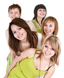Group of happy young people. Stock Image